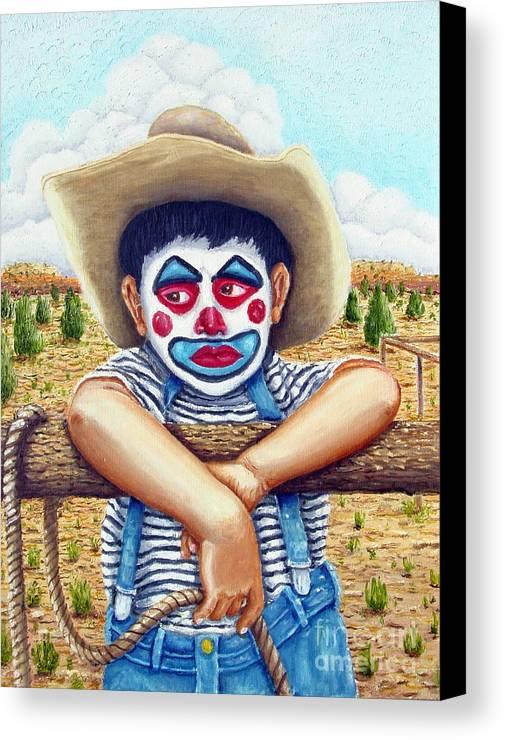 Paris Canvas Print featuring the painting County Fair Clown by Santiago Chavez