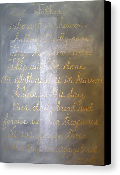 God Canvas Print featuring the painting Father Forgive Us by Donielle Boal