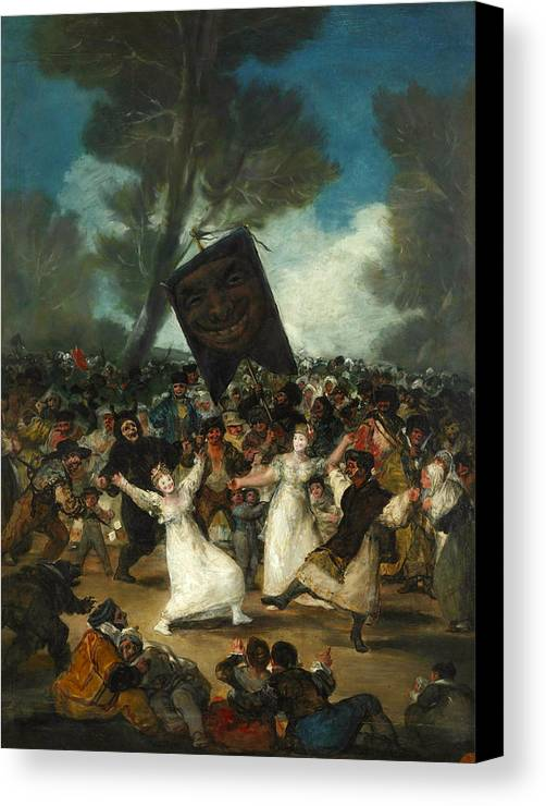 Arts Canvas Print featuring the painting The Burial Of The Sardine by Francisco Goya