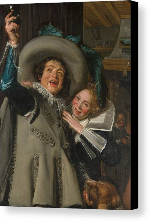 Baroque Canvas Print featuring the painting Yonker Ramp And His Sweetheart by Frans Hals