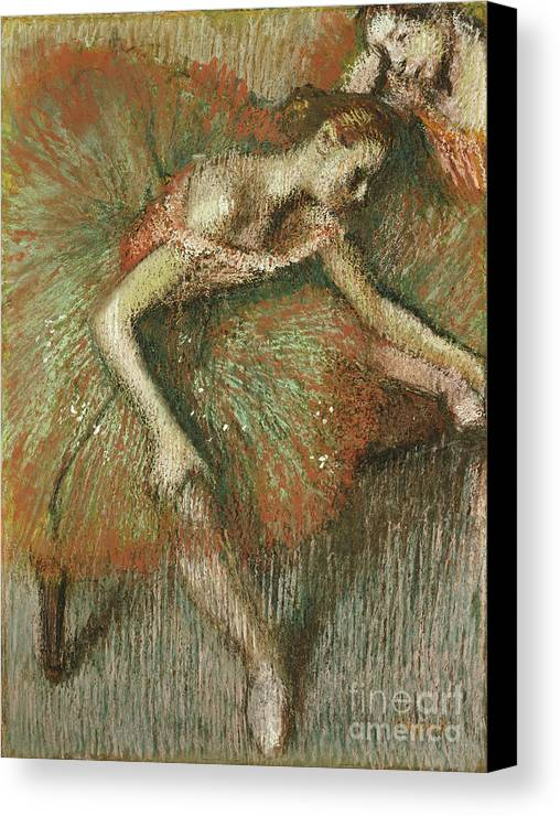 Dancers Canvas Print featuring the painting Dancers by Edgar Degas