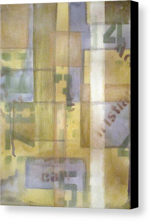Abstract Canvas Print featuring the painting Untitled by W Todd Durrance