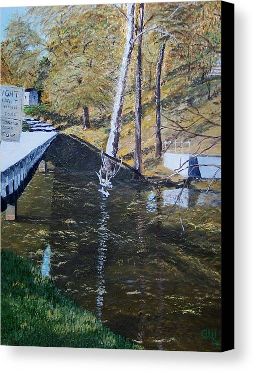 Landscape Canvas Print featuring the painting Steven's Mill by Tim White