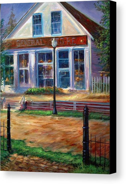 General Store Canvas Print featuring the painting A Simpler Time by Tommy Winn