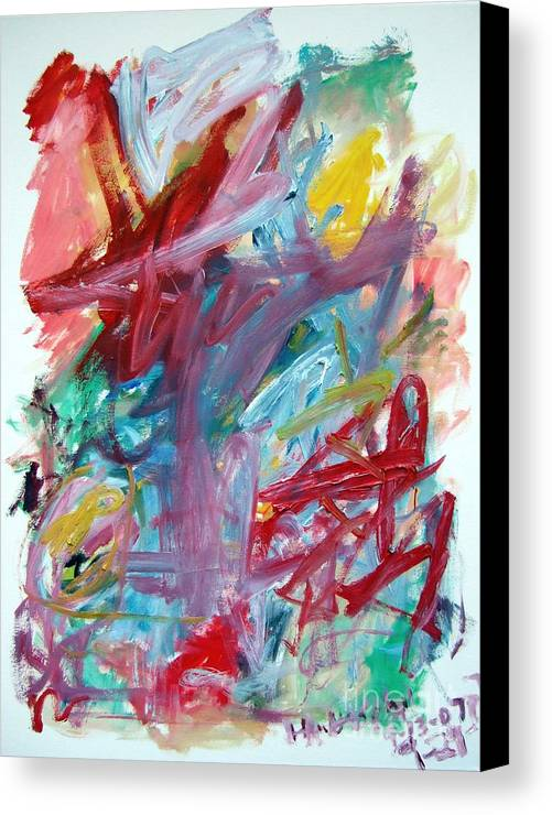 Abstract Canvas Print featuring the painting Abstract Composition by Michael Henderson