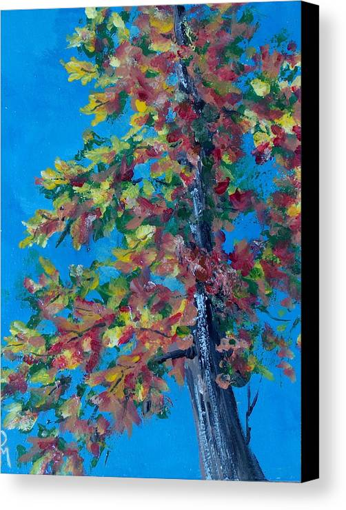 Tree Canvas Print featuring the painting Asymmetree by Pete Maier