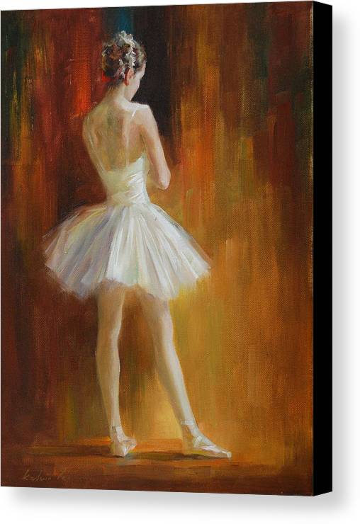 Canvas Print featuring the painting Ballerina by Kelvin Lei