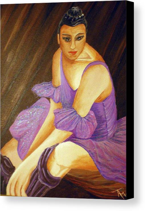 Ballet Canvas Print featuring the painting Ballerina by Tammera Malicki-Wong