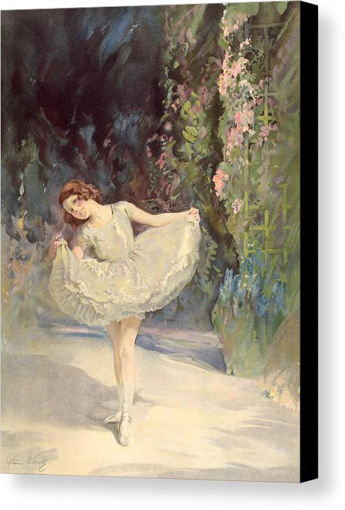 Ballet Canvas Print featuring the painting Ballet by Septimus Edwin Scott
