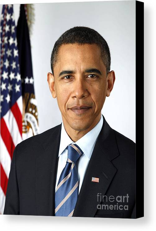 2009 Canvas Print featuring the photograph Barack Obama (1961- ) by Granger