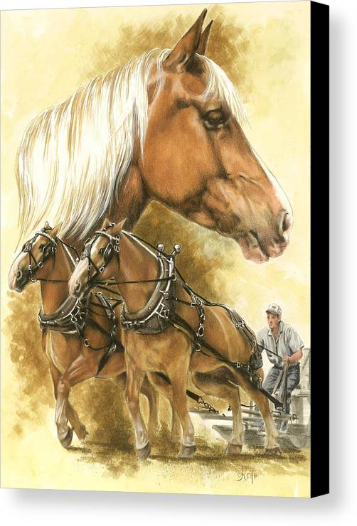 Equus Canvas Print featuring the mixed media Belgian by Barbara Keith