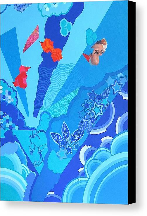 Blue Canvas Print featuring the painting Blue That Surrounds Me by Takayuki Shimada