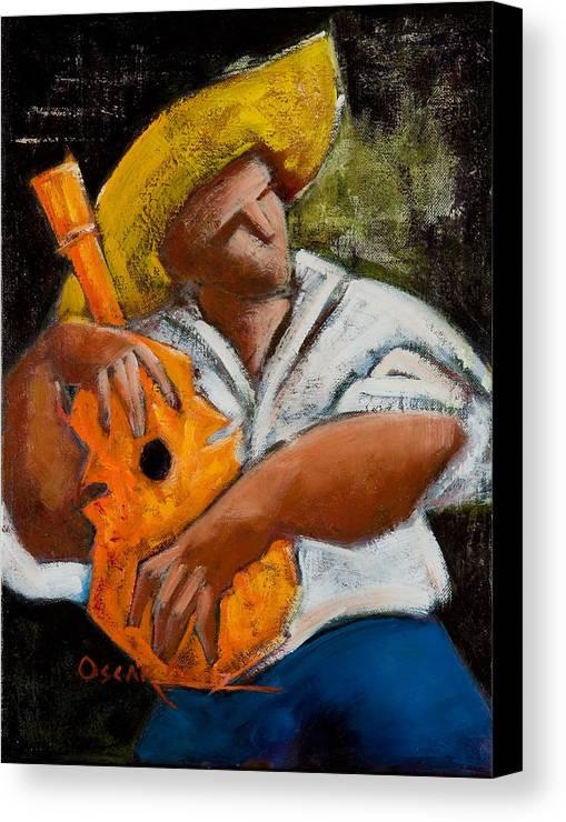 Puerto Rico Canvas Print featuring the painting Bravado Alla Prima by Oscar Ortiz