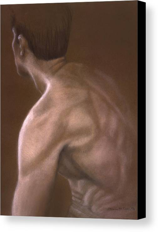 Man Canvas Print featuring the painting Brown Iv by John Clum