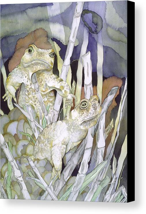 Animals Canvas Print featuring the painting Bud And Weiss by Liduine Bekman