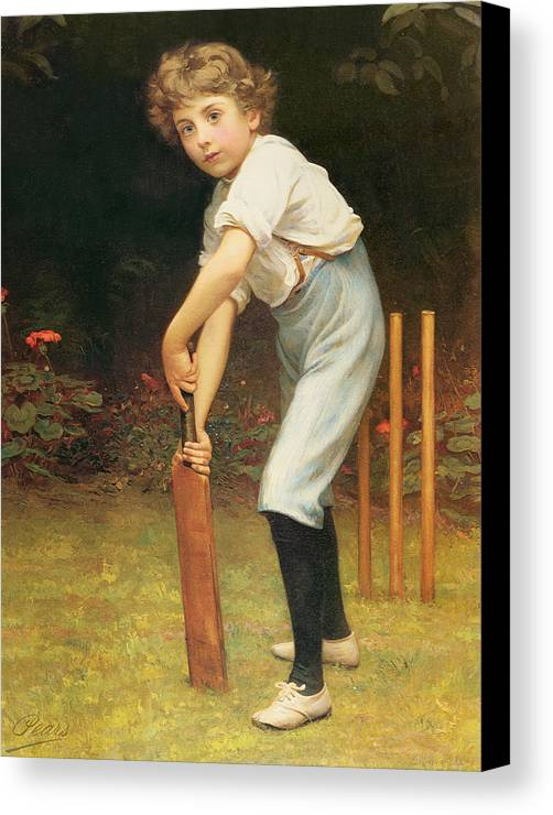 Captain Canvas Print featuring the painting Captain Of The Eleven by Philip Hermogenes Calderon
