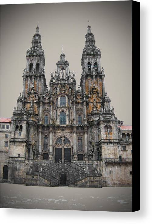 Cathedral Canvas Print featuring the photograph Cathedral Of Santiago De Compostela by Jasna Buncic