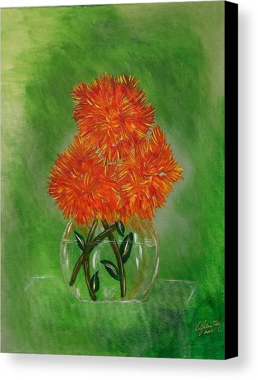 Flowers Canvas Print featuring the painting Clarity by Ofelia Uz