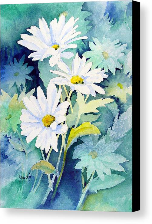 Flowers Canvas Print featuring the painting Daisies by Sam Sidders