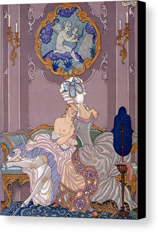 Barbier Canvas Print featuring the painting Dangerous Liaisons by Georges Barbier