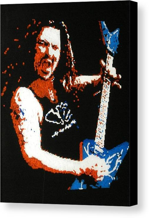 Pantera Canvas Print featuring the painting Darrel Abbott by Grant Van Driest
