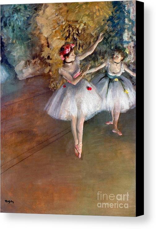 1877 Canvas Print featuring the photograph Degas: Dancers, C1877 by Granger