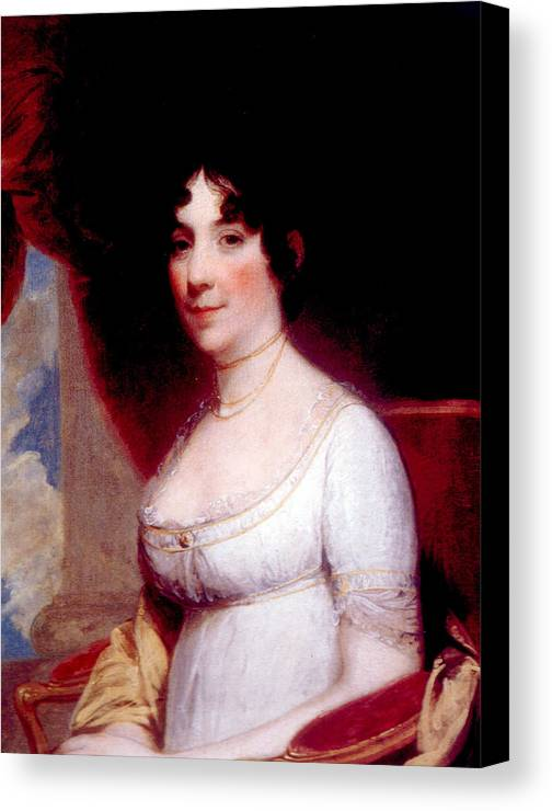 First Lady Canvas Print featuring the photograph Dolley Madison 1768-1849, First Lady by Everett