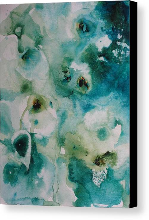 Floral Canvas Print featuring the painting Essence Of Flower by Elizabeth Carr