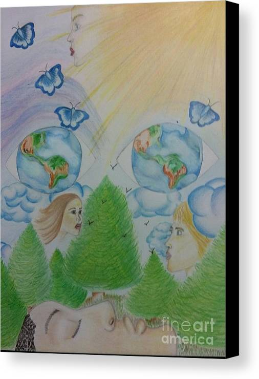 Eternity Canvas Print featuring the drawing Eternity by Diamante Lavendar