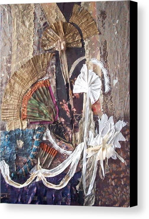 Flowers Canvas Print featuring the mixed media Floralis Victoria by Helene Champaloux-Saraswati