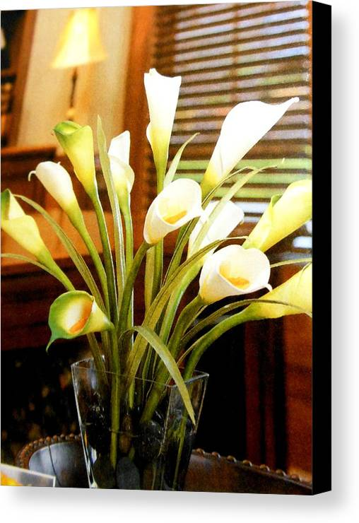 Flowers Canvas Print featuring the photograph Flowers 5 by Lord Frederick Lyle Morris