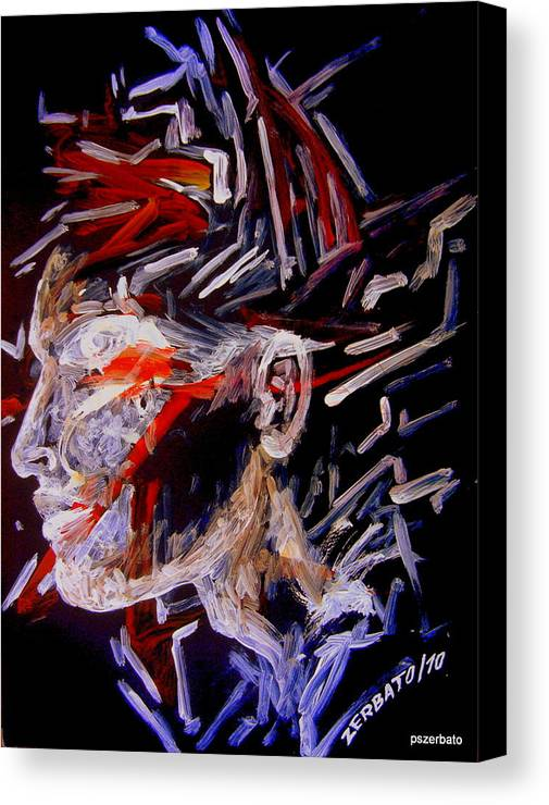 Face Canvas Print featuring the digital art Forming Opinions by Paulo Zerbato