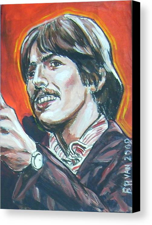 George Harrison Canvas Print featuring the painting George Harrison by Bryan Bustard