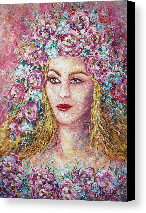 Goddess Of Good Fortune Canvas Print featuring the painting Goddess Of Good Fortune by Natalie Holland