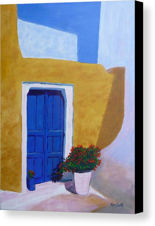 Greece Canvas Print featuring the painting Greece Painting by Rae Smith