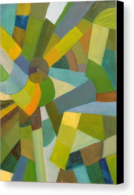 Green Canvas Print featuring the painting Green Pallette by Art Nomad Sandra Hansen