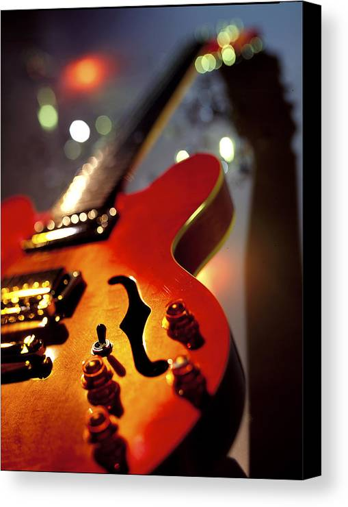 Guitar Canvas Print featuring the photograph Guitar by Robert Ponzoni