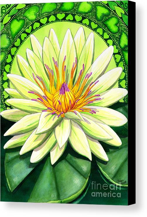 Heart Canvas Print featuring the painting Heart Chakra by Catherine G McElroy