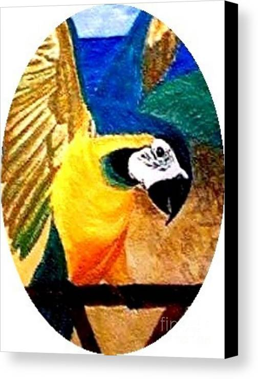 Nature Canvas Print featuring the painting Island Bird Se by Brenda L Spencer