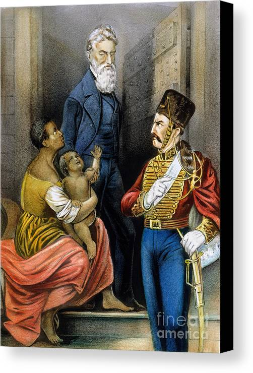 19th Century Canvas Print featuring the photograph John Brown (1800-1859) by Granger