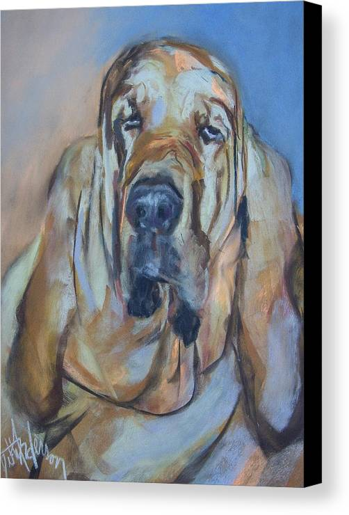 Dog Canvas Print featuring the painting Just Another Magic Bloodhound by Debbie Anderson
