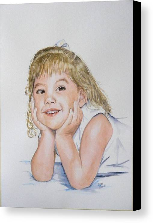 Canvas Print featuring the painting Kylie Newkirk by Diane Ziemski