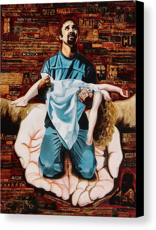 Lamentations Canvas Print featuring the painting Lamentations by Teresa Carter