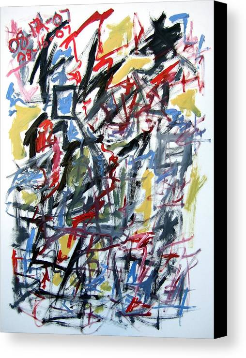 Abstract Canvas Print featuring the painting Large Abstract No. 5 by Michael Henderson
