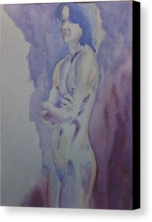 Female Nude Standing Canvas Print featuring the painting LMD by Ken Daugherty