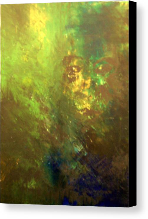 Abstract Canvas Print featuring the painting Lost Soul Or In The Garden by DeLa Hayes Coward