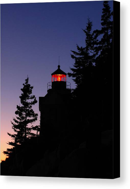 Acadia Lighthouse Canvas Print featuring the photograph Maine Lighthouse by Juergen Roth