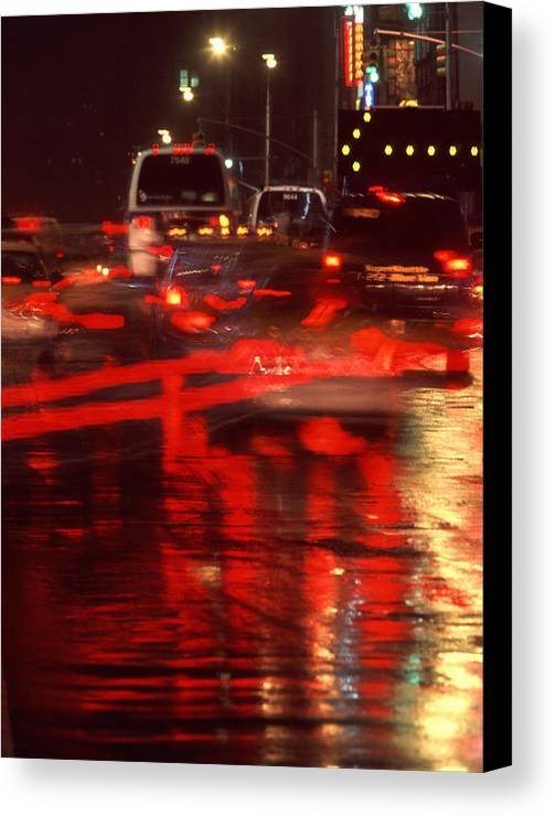 Nyc Canvas Print featuring the photograph Manhattan Night by Brad Rickerby