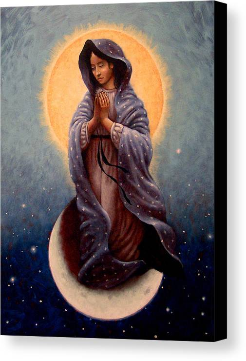 Mary Canvas Print featuring the painting Mary Queen Of Heaven by Timothy Jones