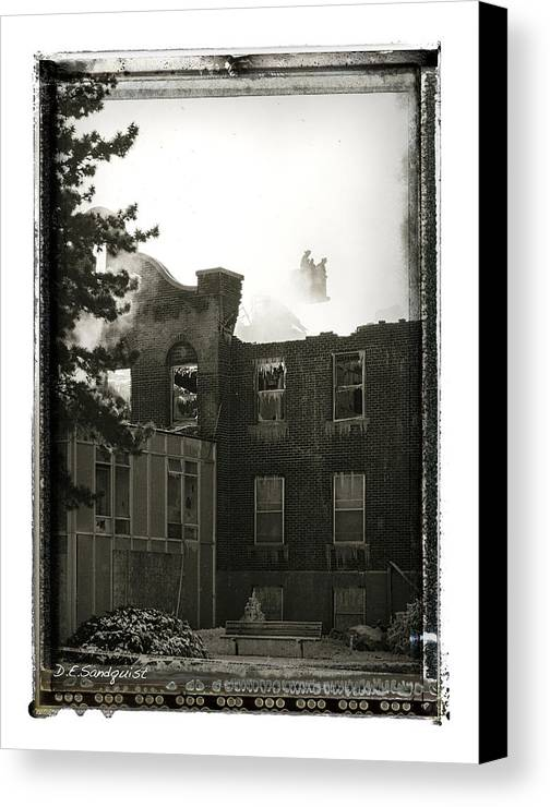 Hospital Canvas Print featuring the photograph Mercy Hospital by Deanna Sandquist